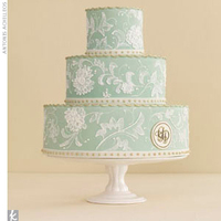 Cakes, white, blue, cake