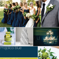 blue, green, silver, Inspiration board