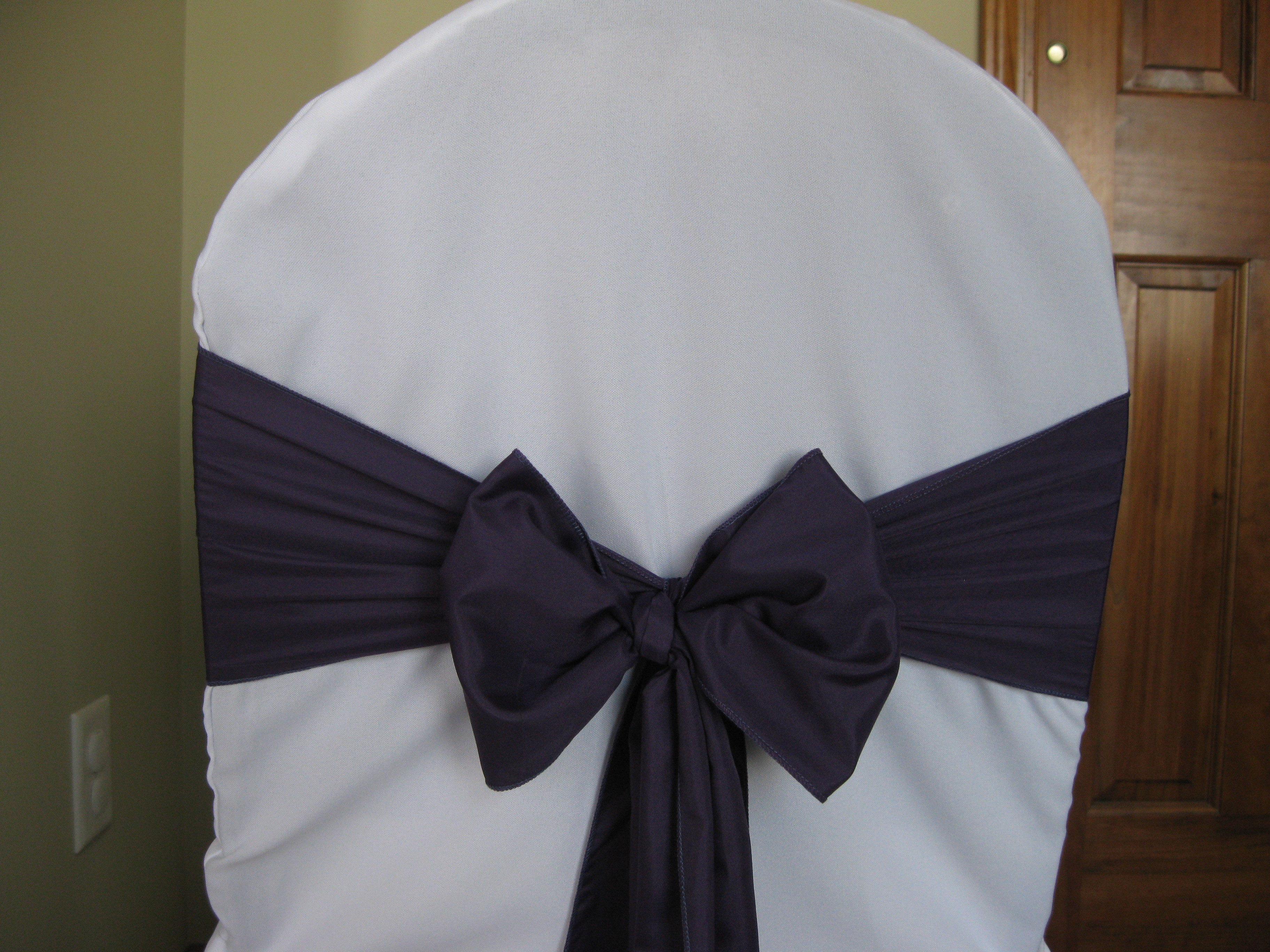 Ceremony, Reception, Flowers & Decor, purple, Sash, Linens, Plum