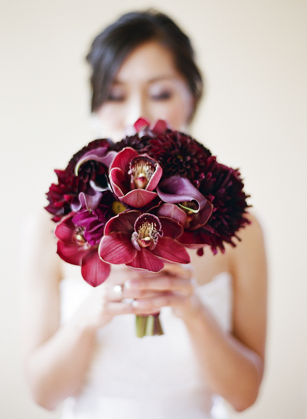 Flowers & Decor, burgundy, purple, Modern, Vineyard, Orchids, Elegance, Contemporary, Elizabeth andrew