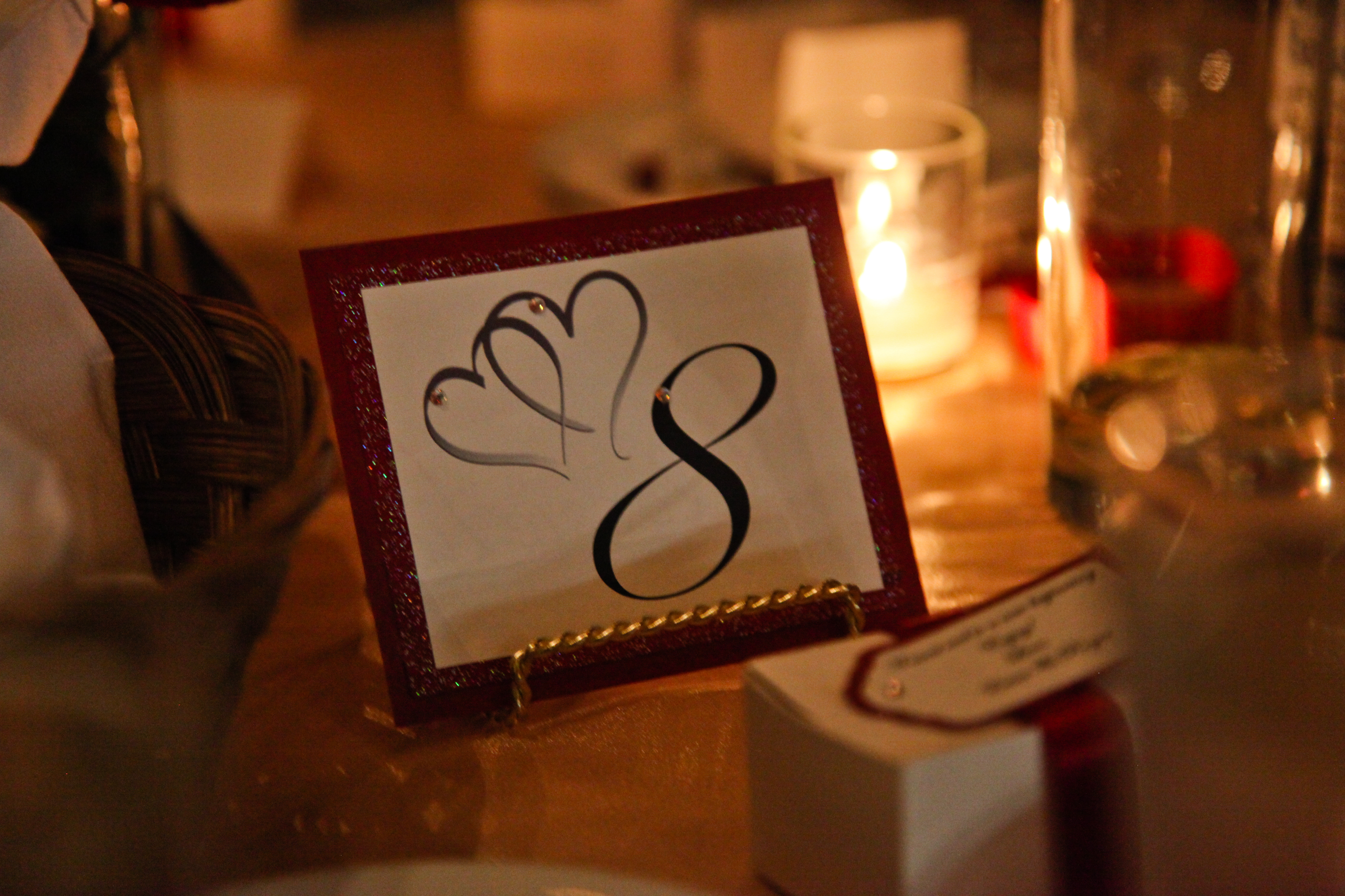 Reception, Flowers & Decor, red, Table, Number