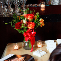 Reception, Flowers & Decor, orange, red, gold, Flowers, Table, In, Sign