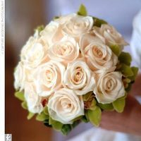 Flowers & Decor, white, Bride Bouquets, Flowers, Roses, Bouquet, Orchids, Cymbidium