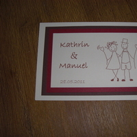 Stationery, red, brown, Invitations