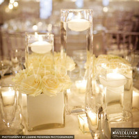 Reception, Flowers & Decor, white, Centerpieces, Centerpiece, Candle, Floating