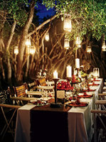 Reception, Flowers & Decor, gold, Outdoors