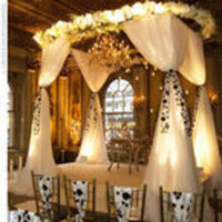 Ceremony, Flowers & Decor, white, black