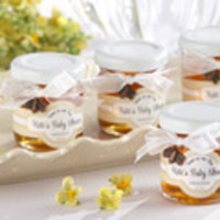 Favors & Gifts, white, gold, Favors, Honey