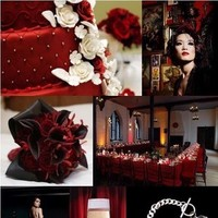white, red, black, Wedding, Colors
