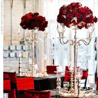 Reception, Flowers & Decor, white, red, black, Flowers