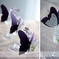 purple, Butterfly, Card, Place