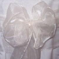 Ceremony, Reception, Flowers & Decor, Decor, white, Chair, Sash