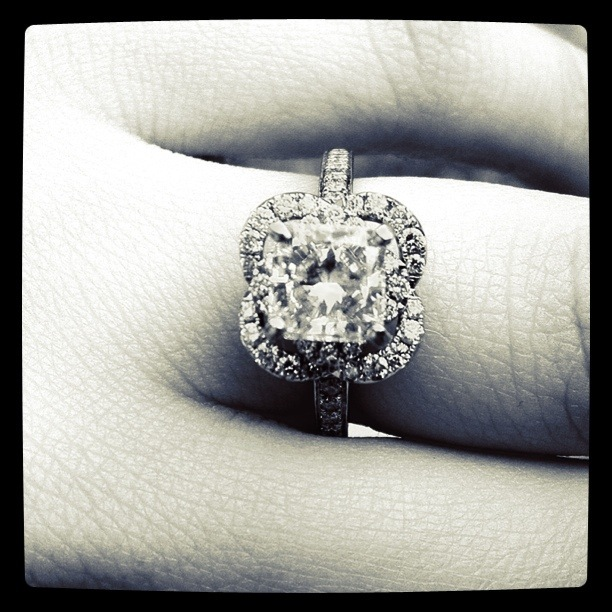 Jewelry, Engagement Rings, Ring, Engagement, Diamond, Pave, Radiant