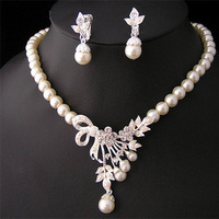 Jewelry, Necklaces, Earrings, Crystal, Necklace, Swarovski, Set, Pearl