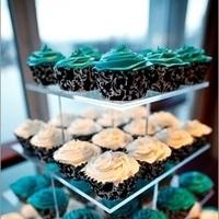 Cakes, white, blue, black, cake