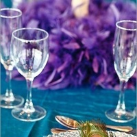 Reception, Flowers & Decor, white, purple, blue