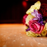 Flowers & Decor, yellow, purple, green, Flowers