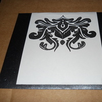 Stationery, white, black, silver, Invitations, Mahoganieyes