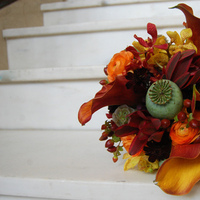 Flowers & Decor, Bridesmaids, Bridesmaids Dresses, Fashion, yellow, orange, red, brown, gold, Bridesmaid Bouquets, Flowers, Flower Wedding Dresses
