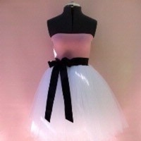 Wedding Dresses, Fashion, white, pink, black, dress, And, Tulle, Style, Ballerina, tulle wedding dresses