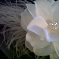Beauty, Flowers & Decor, Jewelry, ivory, Flowers, Hair, Fascinator