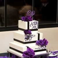Cakes, white, purple, black, cake