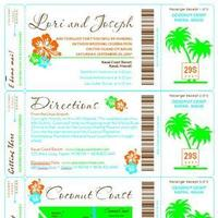 DIY, Stationery, Destinations, Paper, orange, green, Hawaii, Invitations, Dw