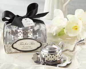 Reception, Flowers & Decor, Favors & Gifts, white, black, silver, Favors, Wedding, Tea, Favour, Infuser