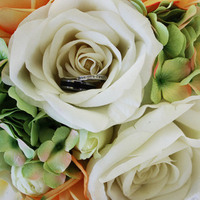 Flowers & Decor, Jewelry, orange, green, Flowers