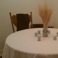 Reception, Flowers & Decor, yellow, blue