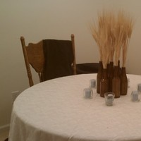 Reception, Flowers & Decor, yellow, blue, Wheat