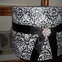 Reception, Flowers & Decor, black, silver, Damask, Cardbox, Mahoganieyes