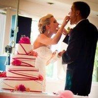 Cakes, white, red, cake