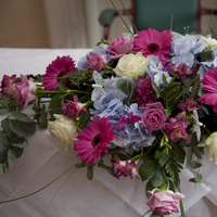 Ceremony, Reception, Flowers & Decor, white, pink, blue, Ceremony Flowers, Flowers