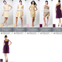Bridesmaids, Bridesmaids Dresses, Fashion, white, purple, gold