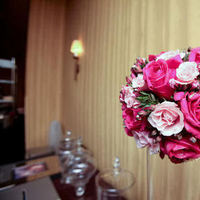 Flowers & Decor, white, pink, green, brown, silver, Flowers