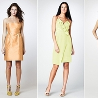Bridesmaids, Bridesmaids Dresses, Wedding Dresses, Fashion, yellow, brown, gold, dress, Bridesmaid, Dresses