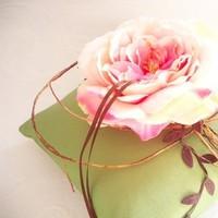 pink, green, Pillow