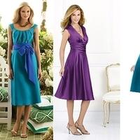 Bridesmaids, Bridesmaids Dresses, Wedding Dresses, Fashion, purple, blue, dress, Way, Lineup, Weddington