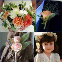 Ceremony, Flowers & Decor, white, pink, blue, green, Ceremony Flowers, Flowers, Inspiration board