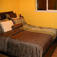yellow, green, brown, Guest, Room, Pillows, Girly, Claytonandshauna