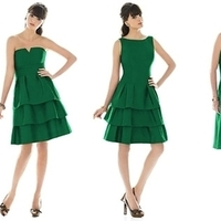 Bridesmaids, Bridesmaids Dresses, Fashion, green, Way, Lineup, Weddington