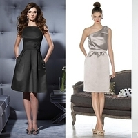 Bridesmaids, Bridesmaids Dresses, Fashion, black, silver