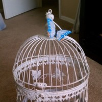 Reception, Flowers & Decor, white, Butterfly, Birdcage, Card, Holder