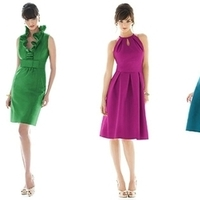 Bridesmaids, Bridesmaids Dresses, Fashion, purple, blue, green, Party, Bridal, Lineup