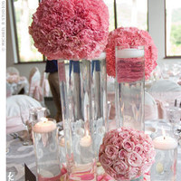 Reception, Flowers & Decor, pink, Centerpieces, Centerpiece, Pomanders