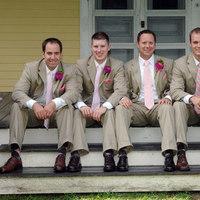 pink, Tan, Ties, Suits