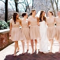 Bridesmaids, Bridesmaids Dresses, Fashion, ivory, Champagne