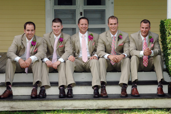 pink, Tan, Ties, Suits