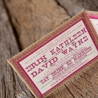 Stationery, pink, Rustic, Invitations, Burlap, Chic, Shabby